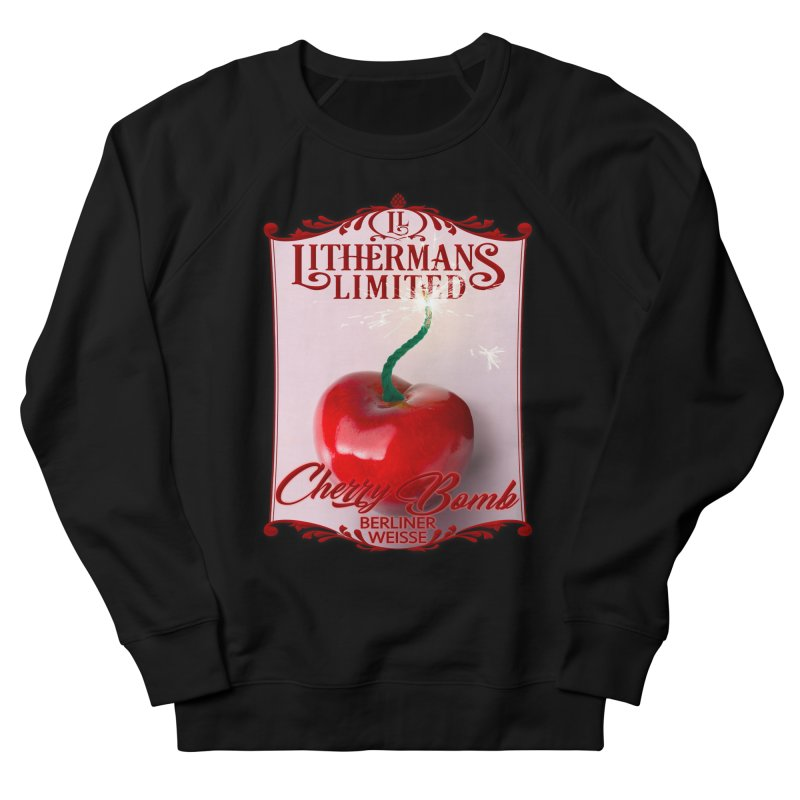 Cherry Bomb Men's French Terry Sweatshirt by Lithermans Limited Print Shop
