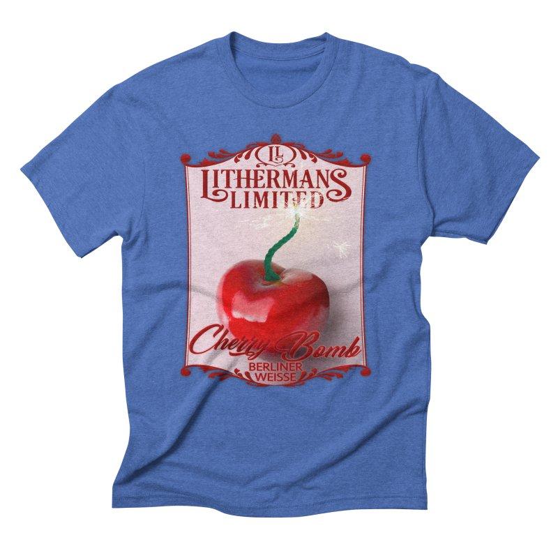 Cherry Bomb Men's Triblend T-Shirt by Lithermans Limited Print Shop