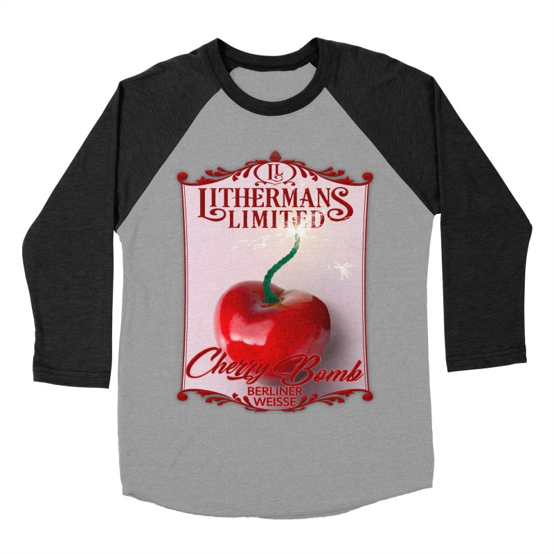 Cherry Bomb Men's Baseball Triblend Longsleeve T-Shirt by Lithermans Limited Print Shop