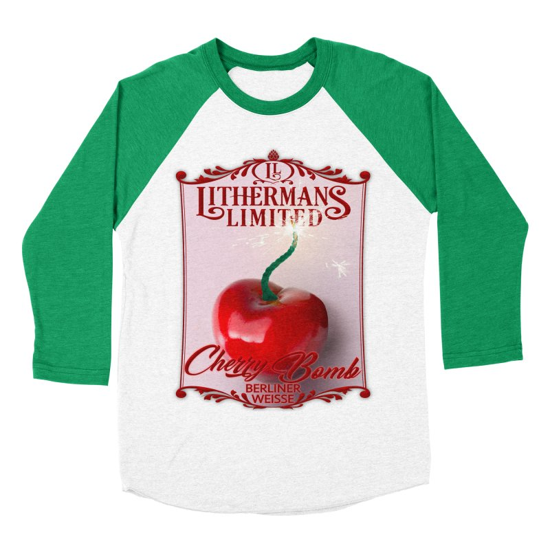 Cherry Bomb Men's Baseball Triblend Longsleeve T-Shirt by Lithermans Limited Print Shop
