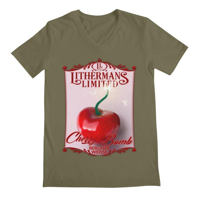 Cherry Bomb Men's Regular V-Neck by Lithermans Limited Print Shop