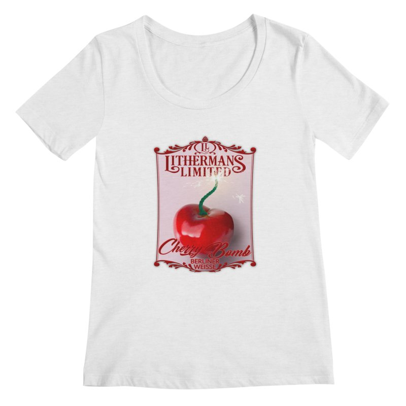 Cherry Bomb Women's Regular Scoop Neck by Lithermans Limited Print Shop