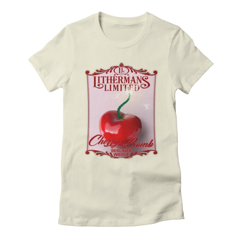 Cherry Bomb Women's Fitted T-Shirt by Lithermans Limited Print Shop