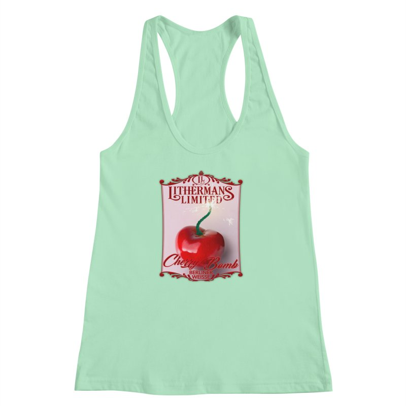 Cherry Bomb Women's Racerback Tank by Lithermans Limited Print Shop