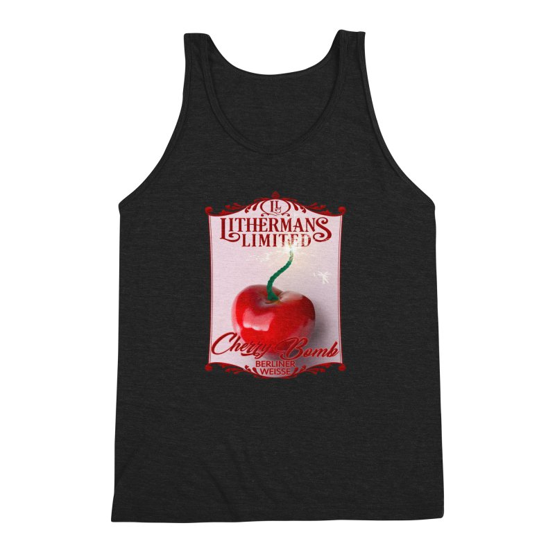Cherry Bomb Men's Triblend Tank by Lithermans Limited Print Shop