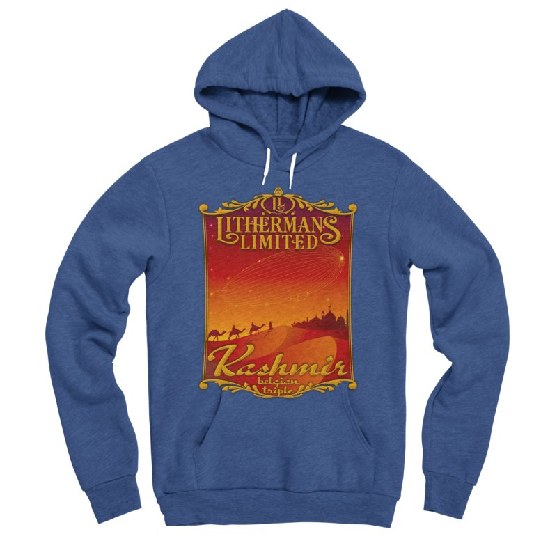 Kashmir Men's Sponge Fleece Pullover Hoody by Lithermans Limited Print Shop