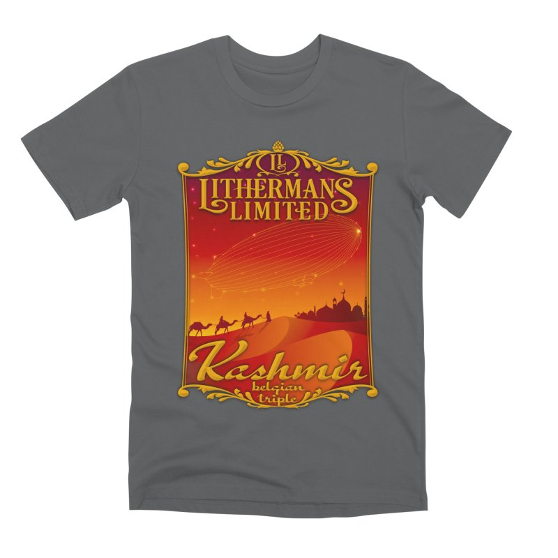 Kashmir Men's Premium T-Shirt by Lithermans Limited Print Shop