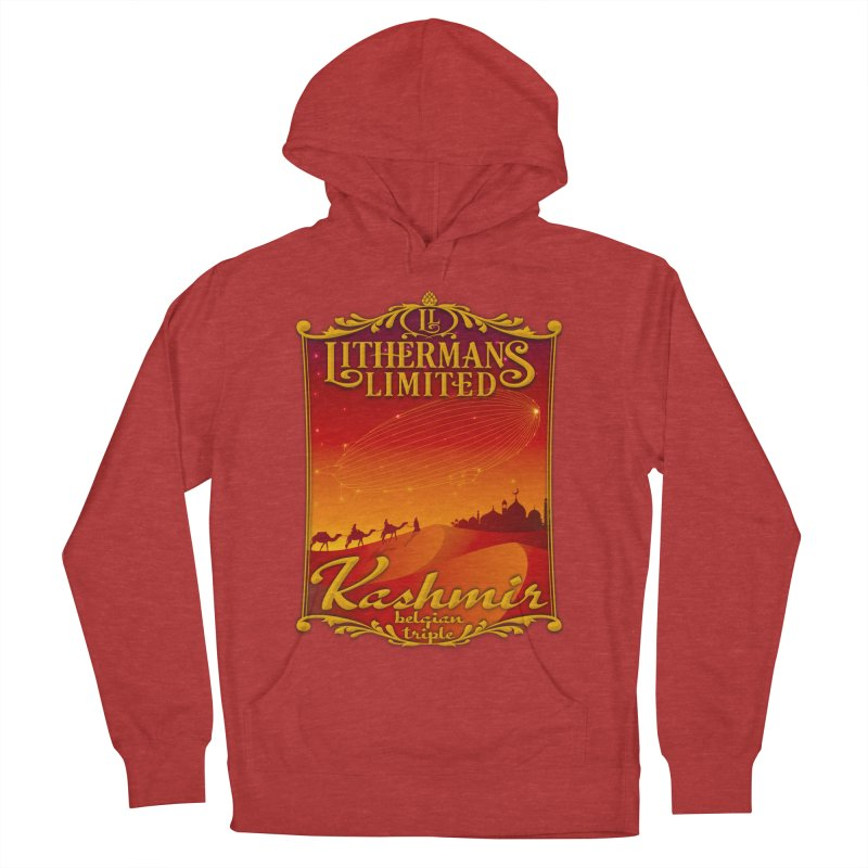Kashmir Women's French Terry Pullover Hoody by Lithermans Limited Print Shop