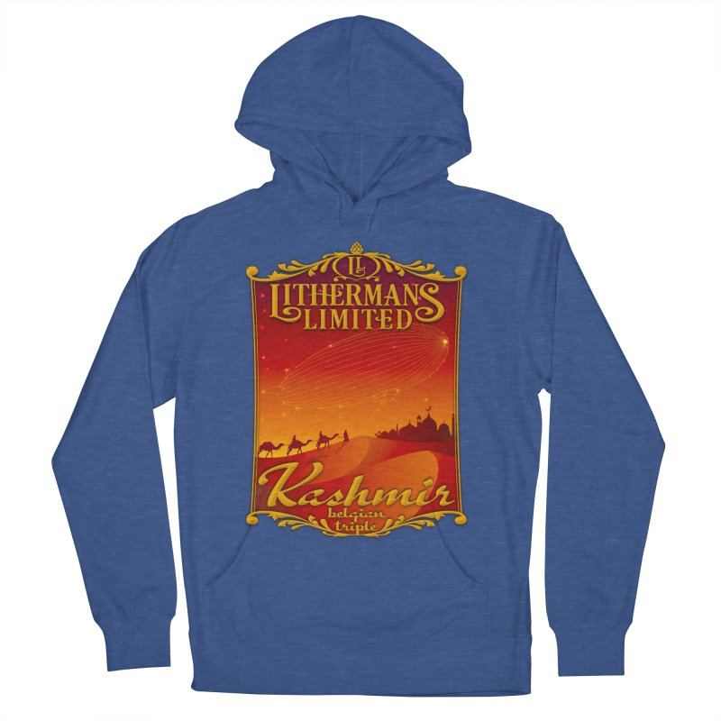 Kashmir Men's French Terry Pullover Hoody by Lithermans Limited Print Shop