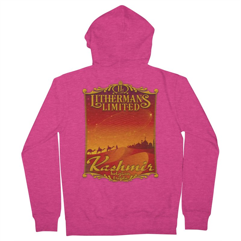 Kashmir Women's French Terry Zip-Up Hoody by Lithermans Limited Print Shop