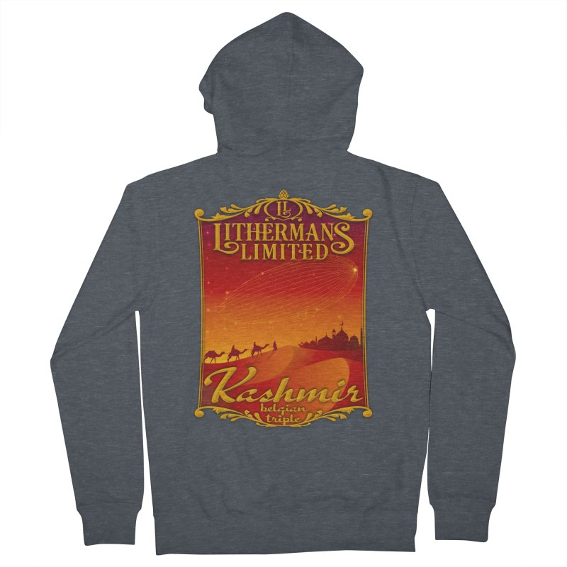 Kashmir Men's French Terry Zip-Up Hoody by Lithermans Limited Print Shop