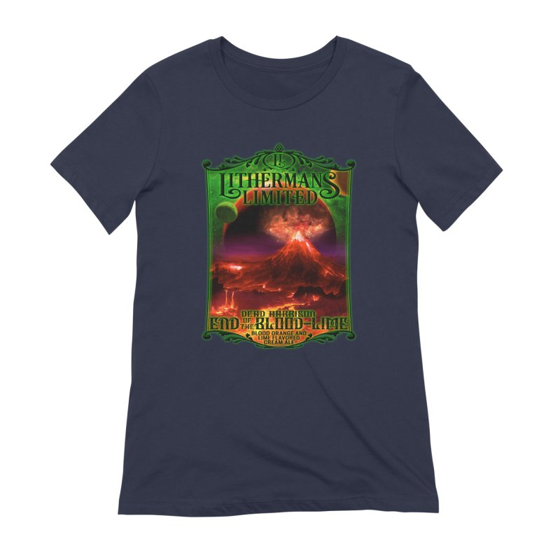 End of the Blood-Lime Women's Extra Soft T-Shirt by Lithermans Limited Print Shop