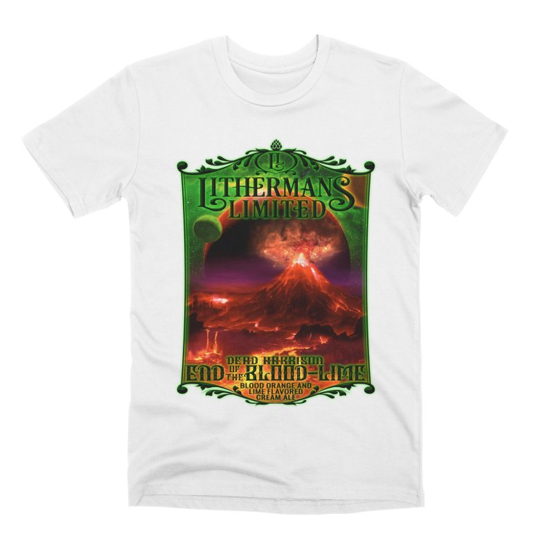End of the Blood-Lime Men's Premium T-Shirt by Lithermans Limited Print Shop