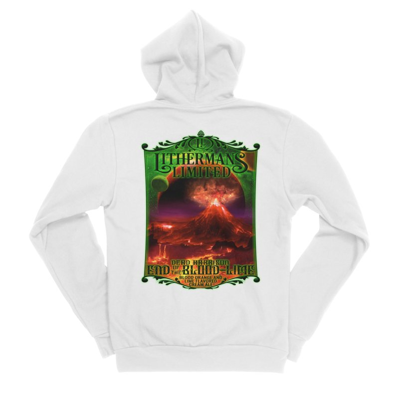 End of the Blood-Lime Women's Sponge Fleece Zip-Up Hoody by Lithermans Limited Print Shop