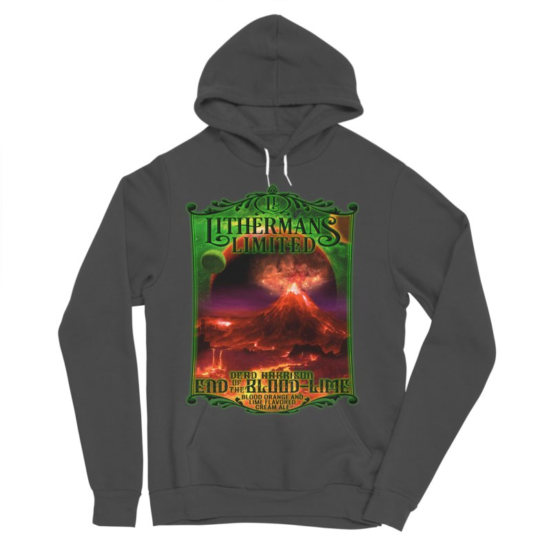 End of the Blood-Lime Women's Sponge Fleece Pullover Hoody by Lithermans Limited Print Shop