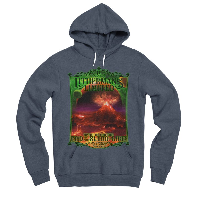 End of the Blood-Lime Men's Sponge Fleece Pullover Hoody by Lithermans Limited Print Shop