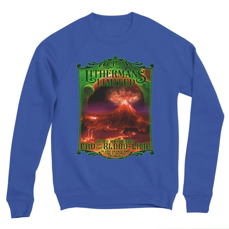 End of the Blood-Lime Men's Sponge Fleece Sweatshirt by Lithermans Limited Print Shop