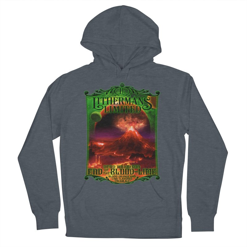 End of the Blood-Lime Women's French Terry Pullover Hoody by Lithermans Limited Print Shop