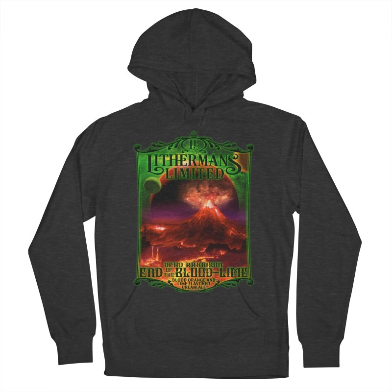 End of the Blood-Lime Men's French Terry Pullover Hoody by Lithermans Limited Print Shop