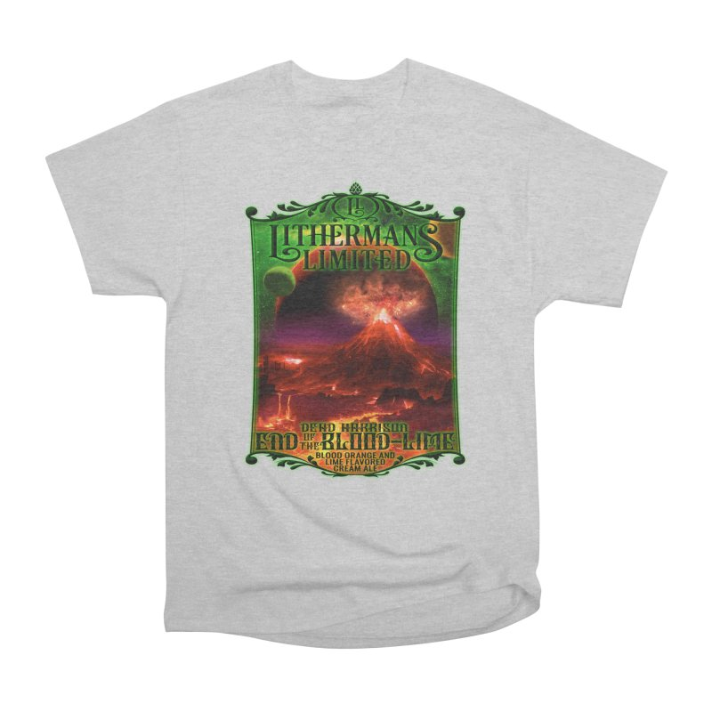 End of the Blood-Lime Women's Heavyweight Unisex T-Shirt by Lithermans Limited Print Shop