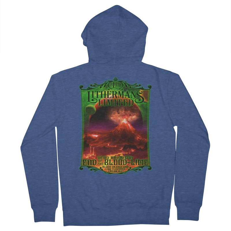 End of the Blood-Lime Women's French Terry Zip-Up Hoody by Lithermans Limited Print Shop