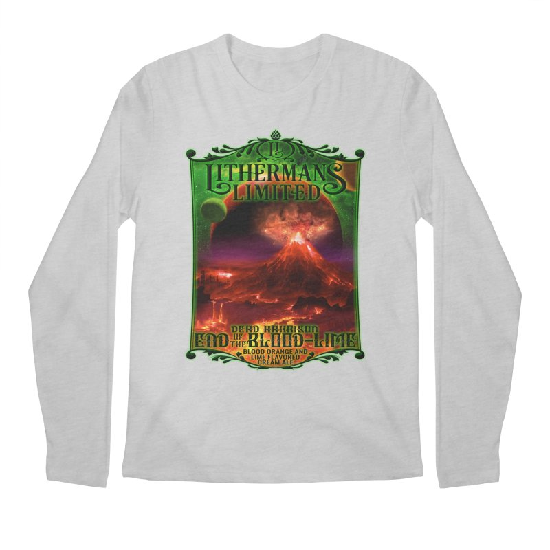 End of the Blood-Lime Men's Regular Longsleeve T-Shirt by Lithermans Limited Print Shop