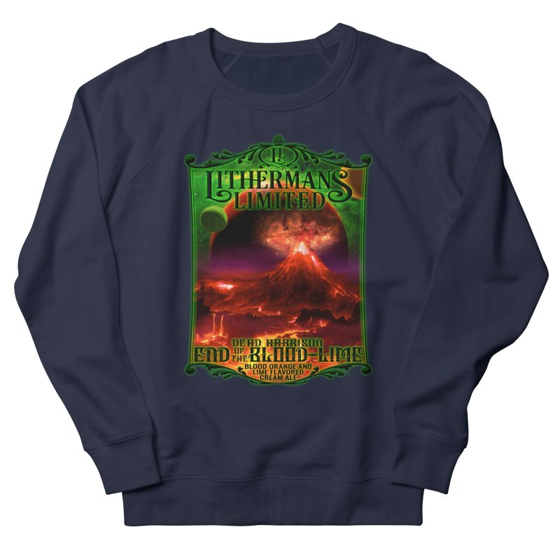 End of the Blood-Lime Men's French Terry Sweatshirt by Lithermans Limited Print Shop