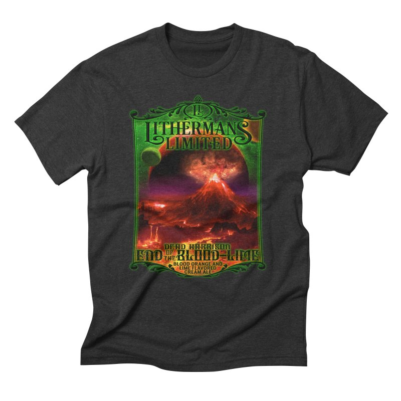 End of the Blood-Lime Men's Triblend T-Shirt by Lithermans Limited Print Shop