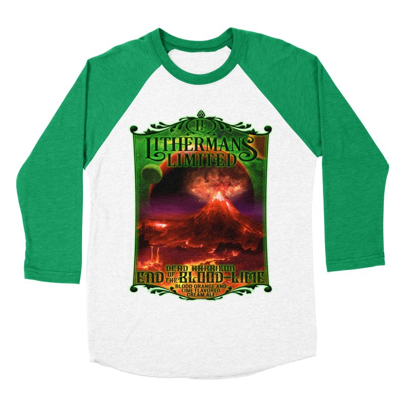 End of the Blood-Lime Men's Baseball Triblend Longsleeve T-Shirt by Lithermans Limited Print Shop