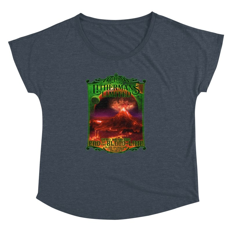 End of the Blood-Lime Women's Dolman Scoop Neck by Lithermans Limited Print Shop