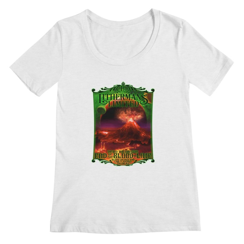 End of the Blood-Lime Women's Regular Scoop Neck by Lithermans Limited Print Shop