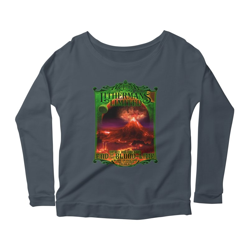 End of the Blood-Lime Women's Scoop Neck Longsleeve T-Shirt by Lithermans Limited Print Shop