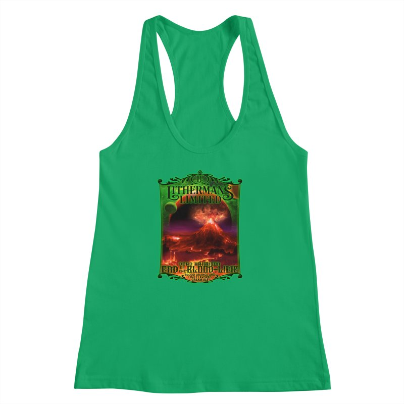End of the Blood-Lime Women's Racerback Tank by Lithermans Limited Print Shop