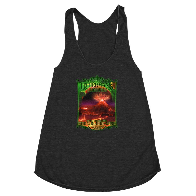 End of the Blood-Lime Women's Racerback Triblend Tank by Lithermans Limited Print Shop