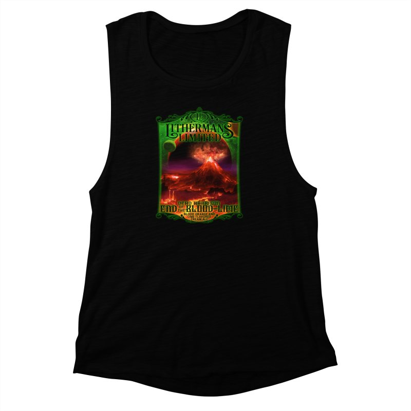 End of the Blood-Lime Women's Muscle Tank by Lithermans Limited Print Shop