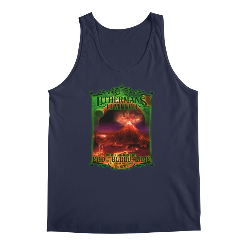 End of the Blood-Lime Men's Regular Tank by Lithermans Limited Print Shop