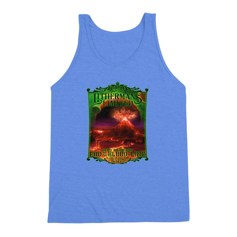 End of the Blood-Lime Men's Triblend Tank by Lithermans Limited Print Shop