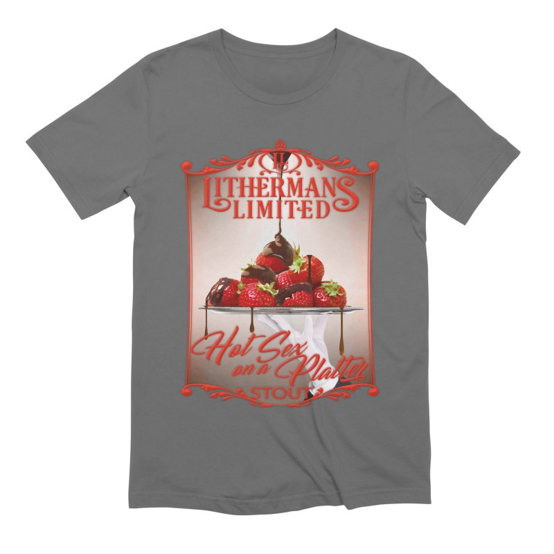 Hot Sex on a Platter Men's Extra Soft T-Shirt by Lithermans Limited Print Shop