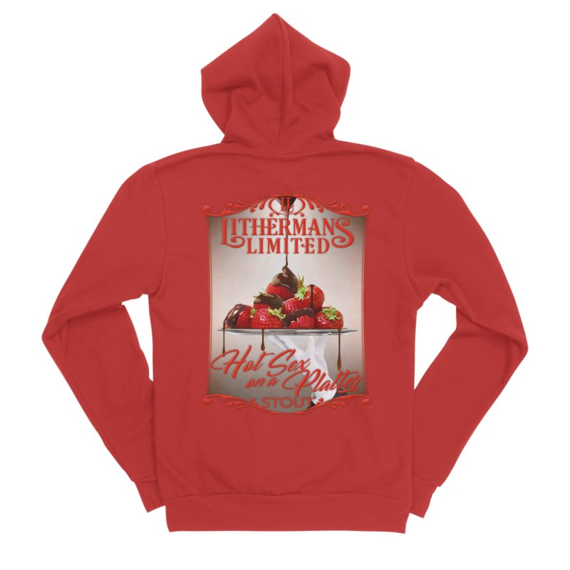Hot Sex on a Platter Men's Sponge Fleece Zip-Up Hoody by Lithermans Limited Print Shop