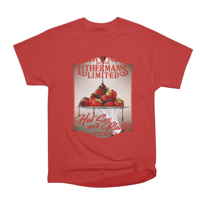 Hot Sex on a Platter Men's Heavyweight T-Shirt by Lithermans Limited Print Shop