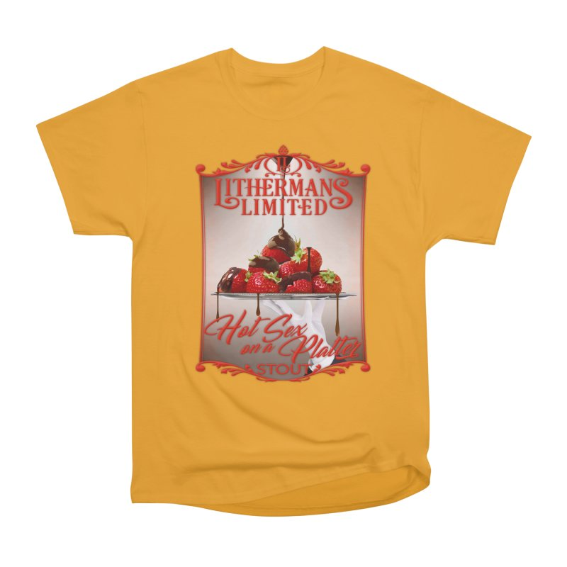 Hot Sex on a Platter Men's Heavyweight T-Shirt by Lithermans Limited Print Shop