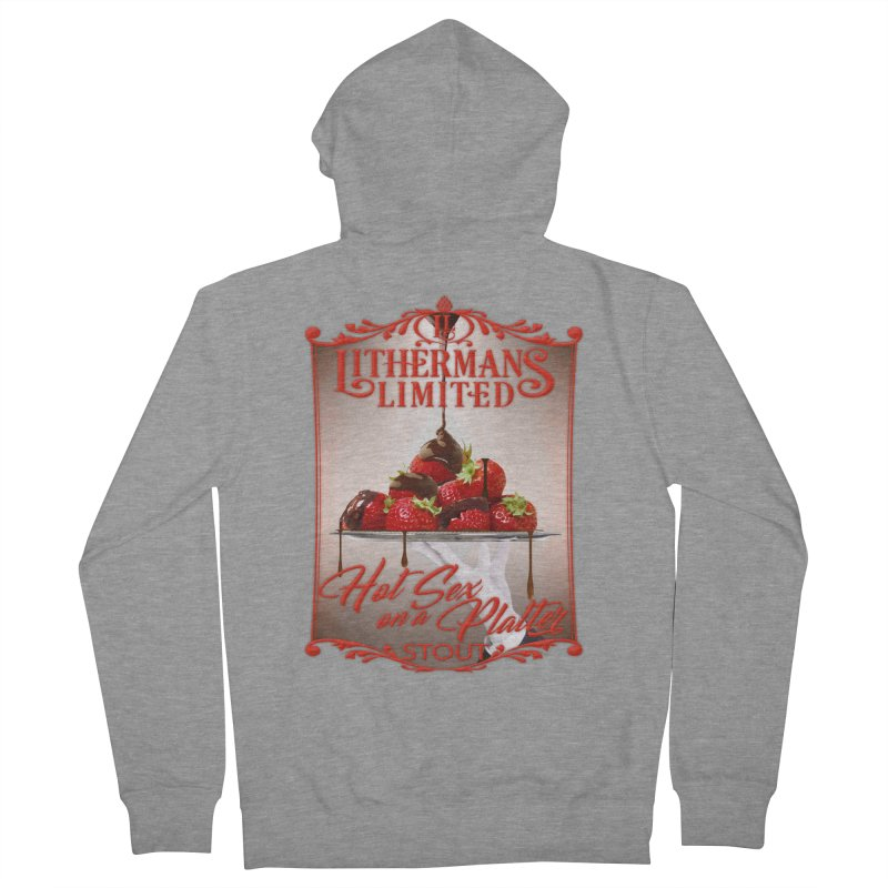 Hot Sex on a Platter Men's French Terry Zip-Up Hoody by Lithermans Limited Print Shop