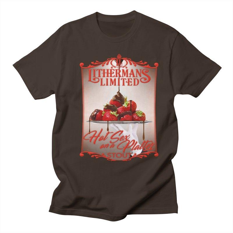 Hot Sex on a Platter Men's Regular T-Shirt by Lithermans Limited Print Shop