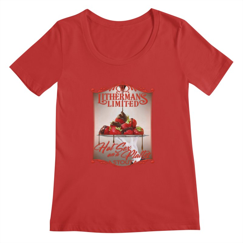 Hot Sex on a Platter Women's Regular Scoop Neck by Lithermans Limited Print Shop