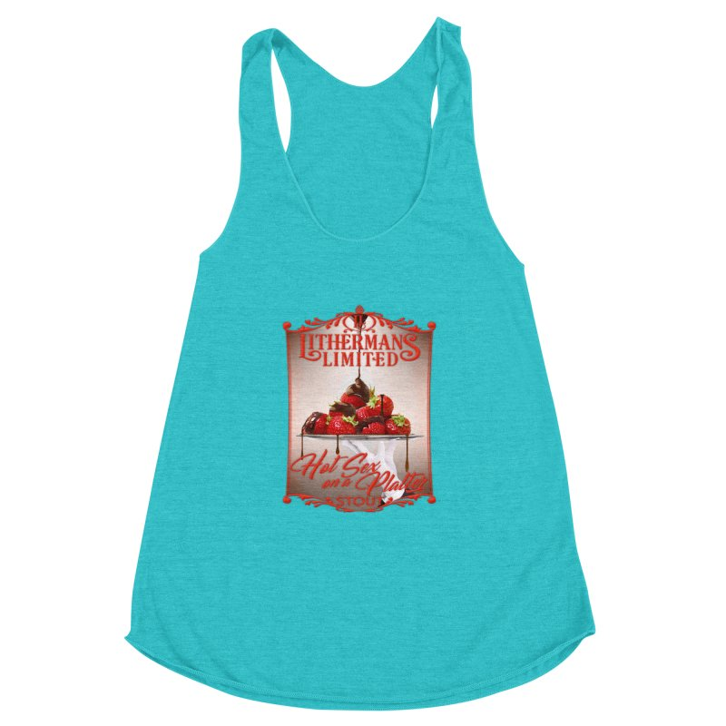 Hot Sex on a Platter Women's Racerback Triblend Tank by Lithermans Limited Print Shop