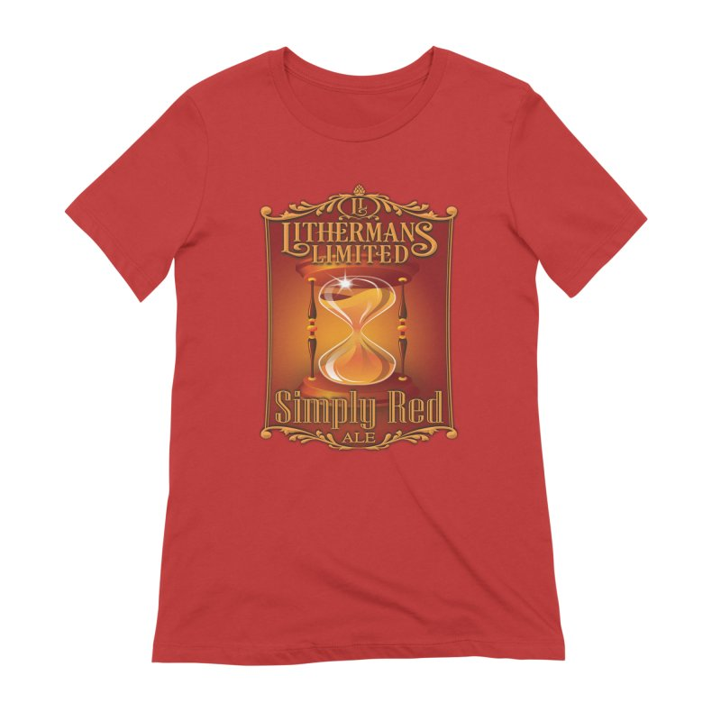 Simply Red Women's Extra Soft T-Shirt by Lithermans Limited Print Shop