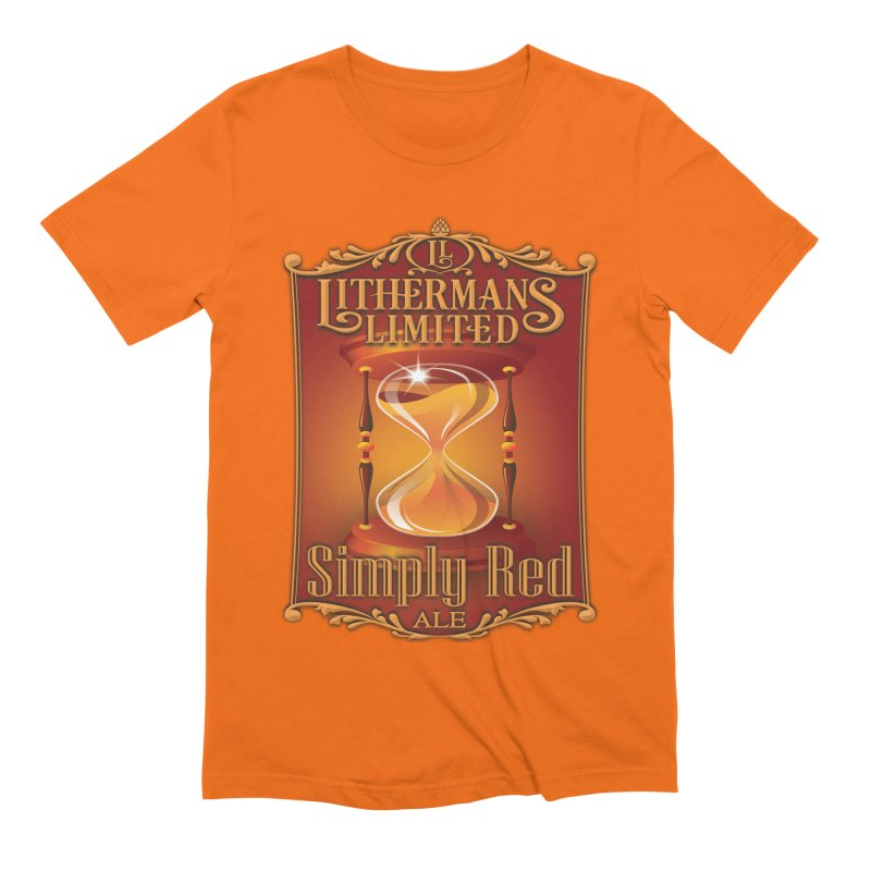 Simply Red Men's Extra Soft T-Shirt by Lithermans Limited Print Shop