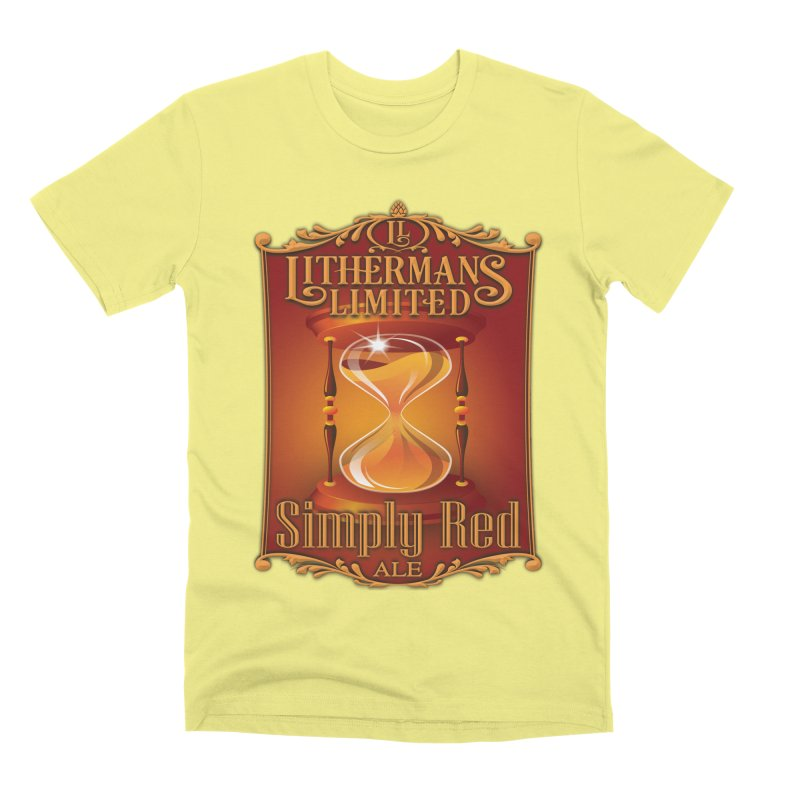 Simply Red Men's Premium T-Shirt by Lithermans Limited Print Shop