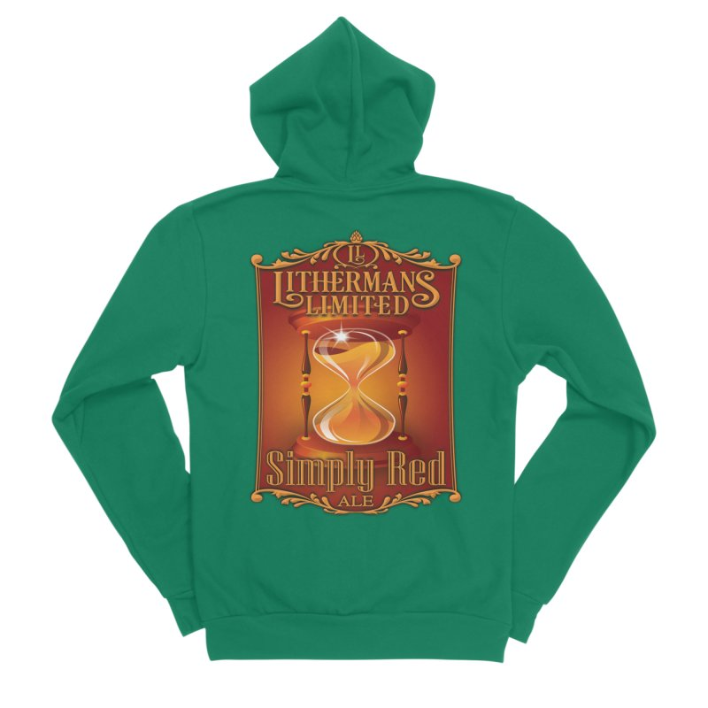 Simply Red Women's Sponge Fleece Zip-Up Hoody by Lithermans Limited Print Shop