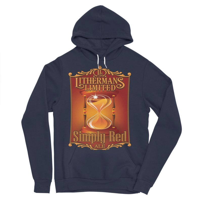 Simply Red Men's Sponge Fleece Pullover Hoody by Lithermans Limited Print Shop